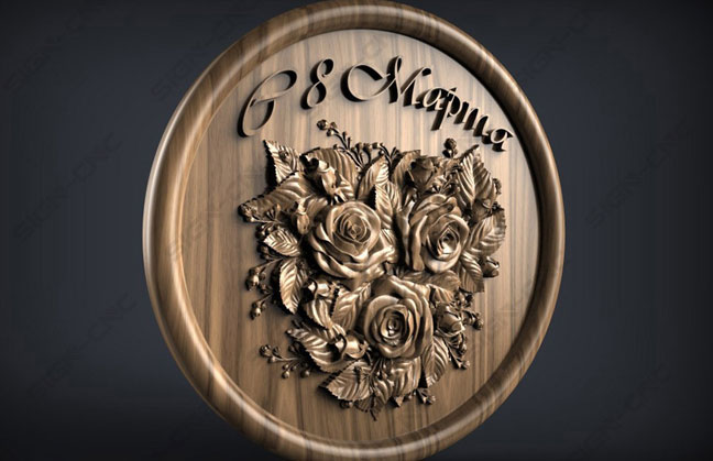 CNC router Wood relief sample