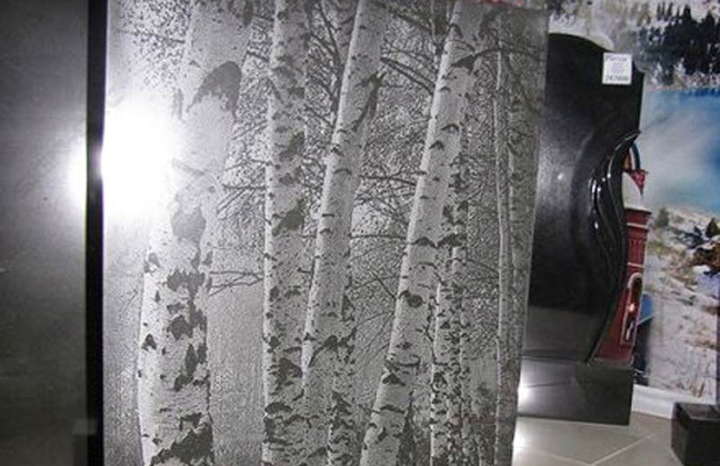 Marble laser engrave