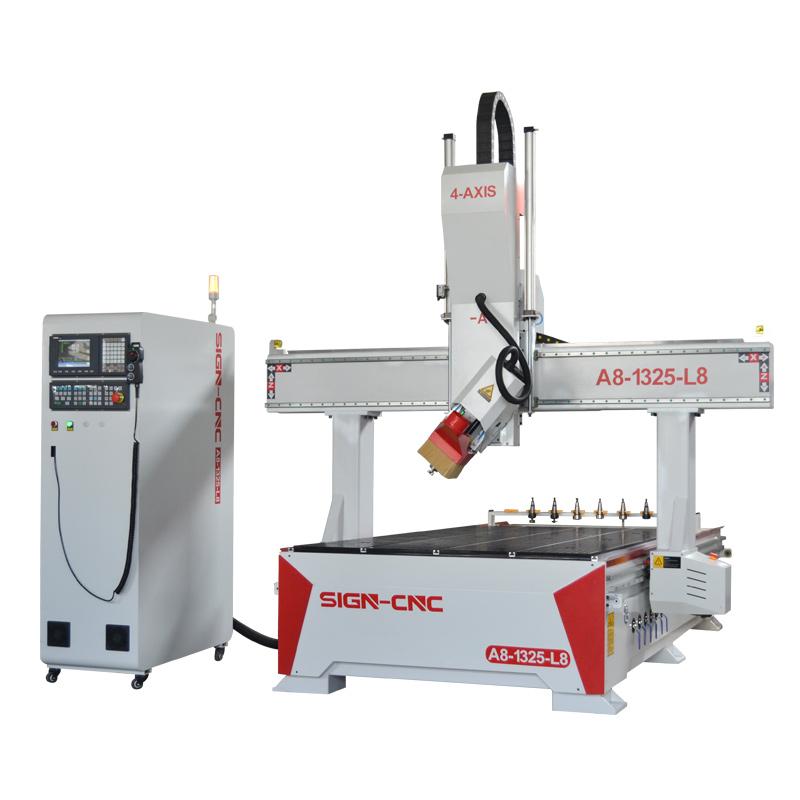 A8-1325-L8 四轴自动换刀数控雕刻机 木工雕刻机