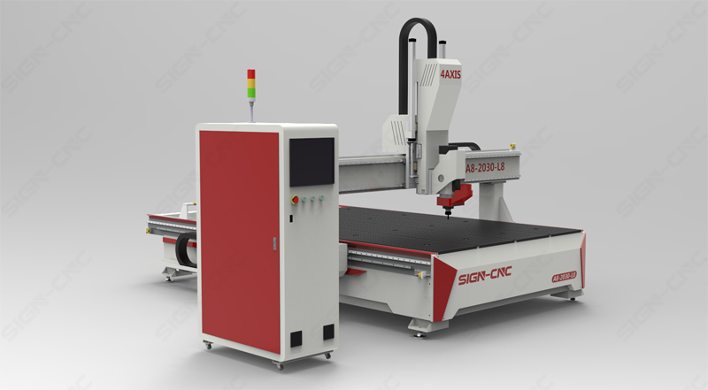 ACE-2030 ATC CNC Router Machine 4Axis Swing head for 3D Model