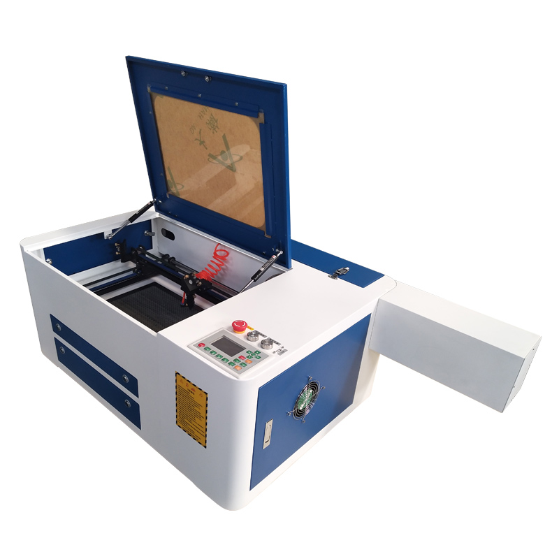 Mini CO2 laser engraving machine for rubber stamps small crafts