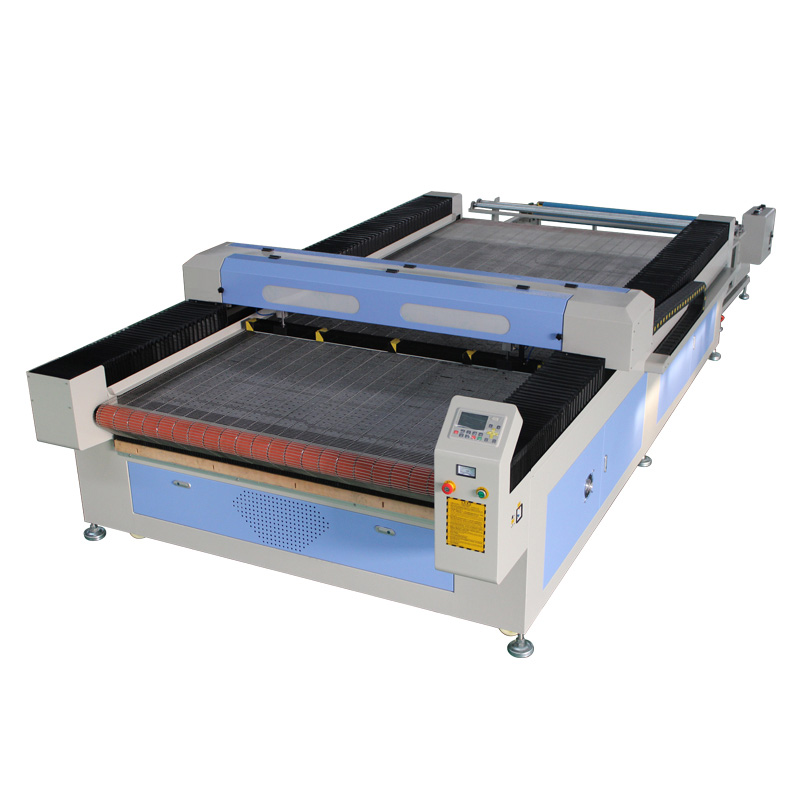 Automatic Feeding Textile Fabric Leather CO2 Laser Cutting Machine with Deviation Correcting