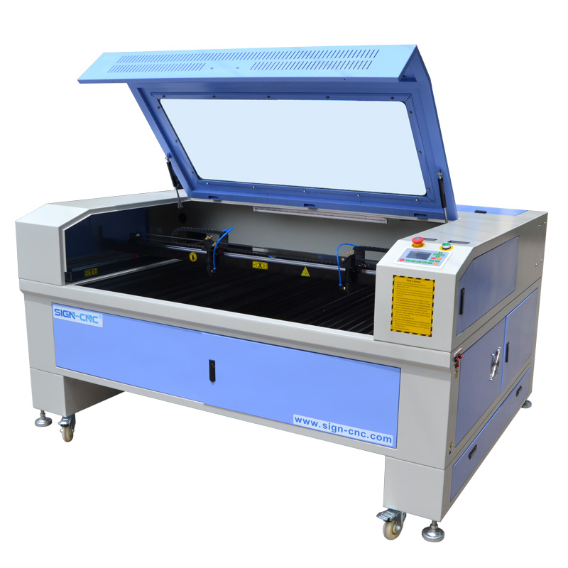 CO2 laser double heads machine high efficiency