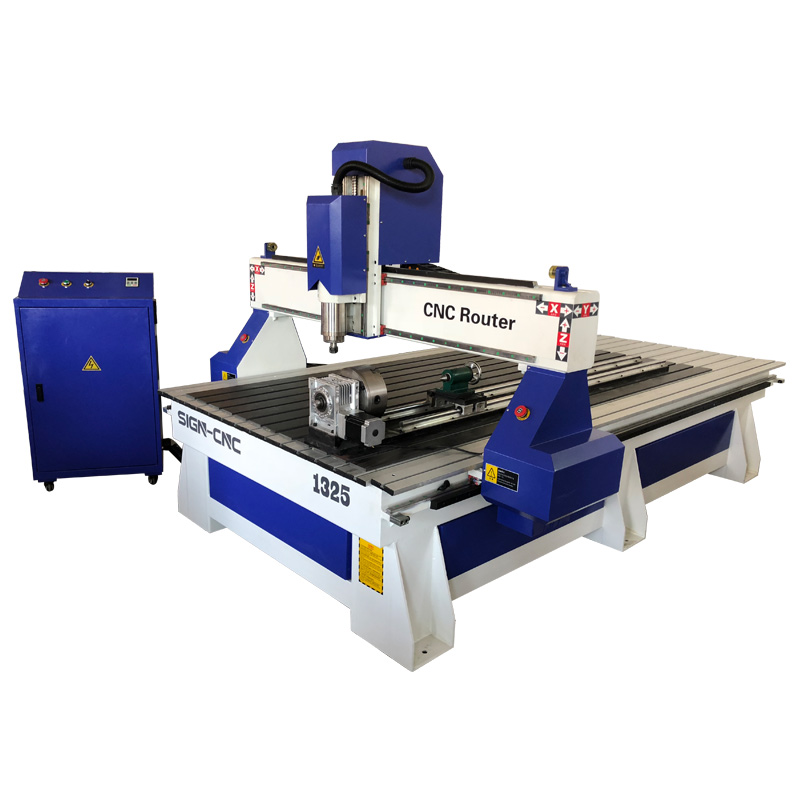 ACE-1325 CNC Router with Rotary for woodworking
