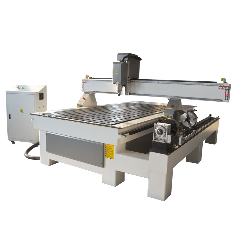 ACE-1325 4axis cnc router with 4 claw double chuch rotary