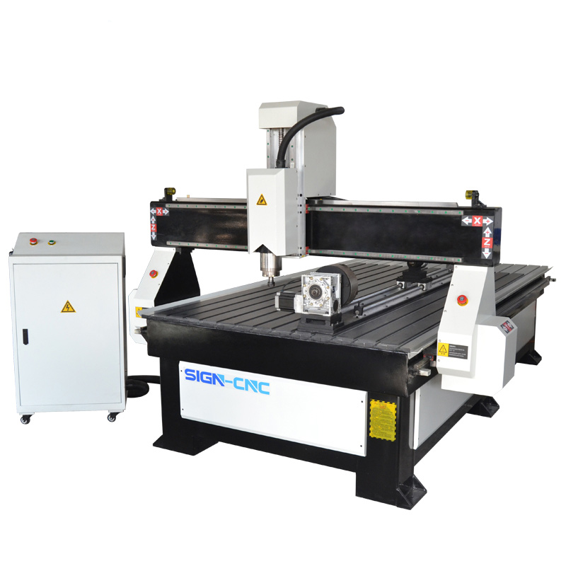 ACE 1325 4 axis CNC wood router machine for round materials