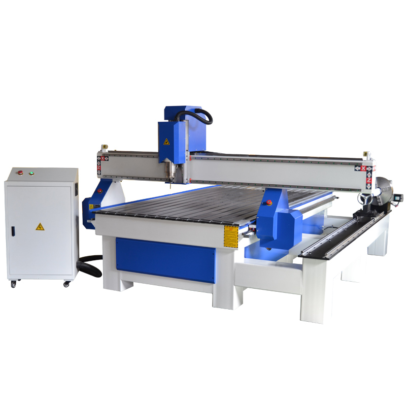 1325 CNC router with rotary wood processing machine