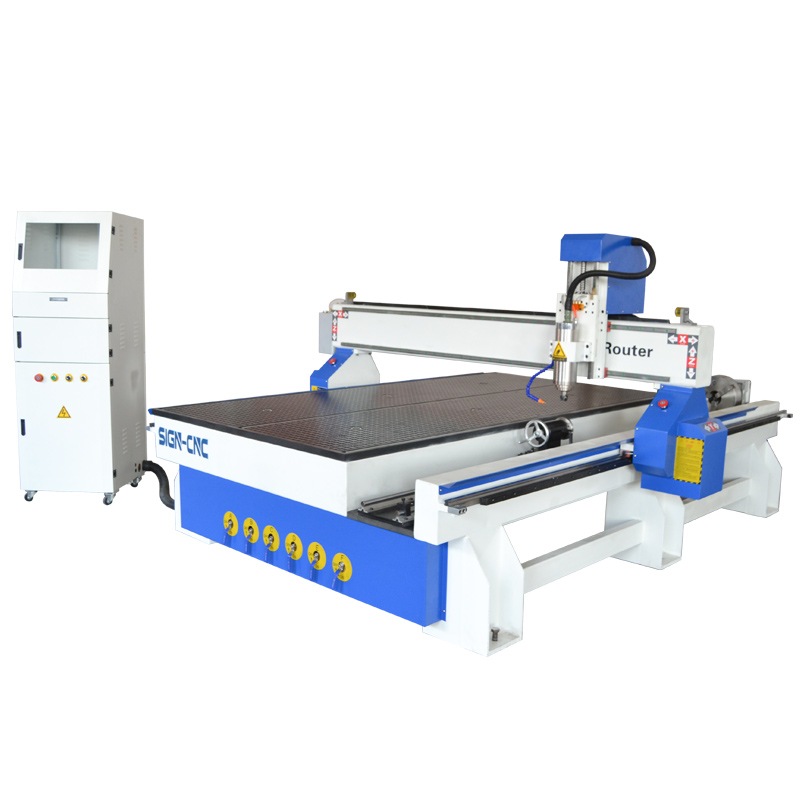 3D CNC Router with Rotary Axis 1325 Woorking Engraving Machine