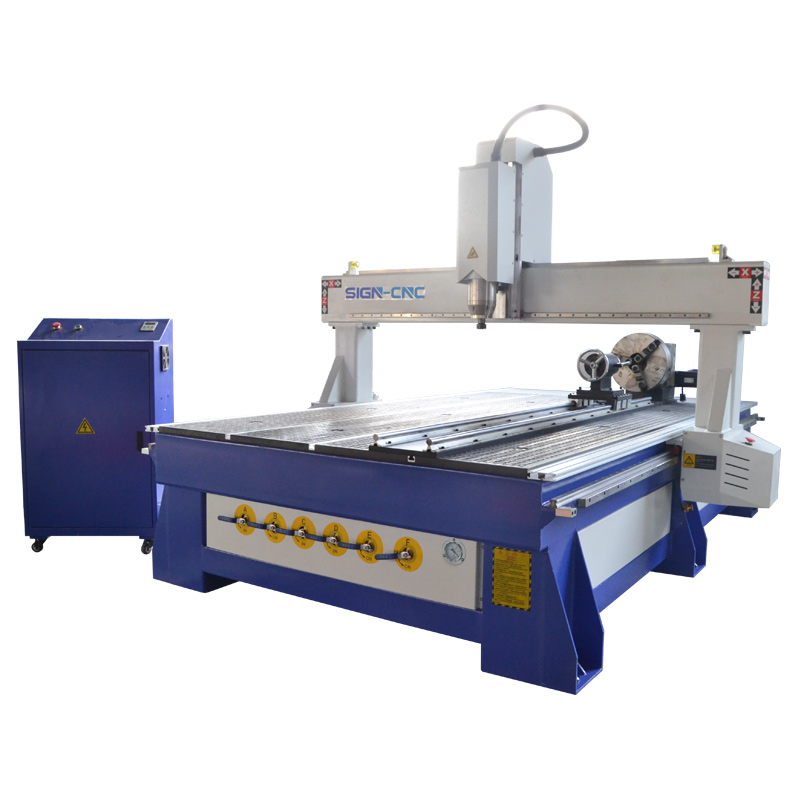 1325 1530 4 Axis CNC Router Supplier with Rotary Device