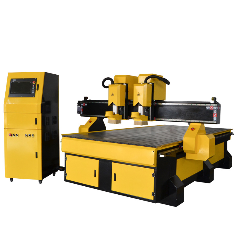 Independent double heads CNC router