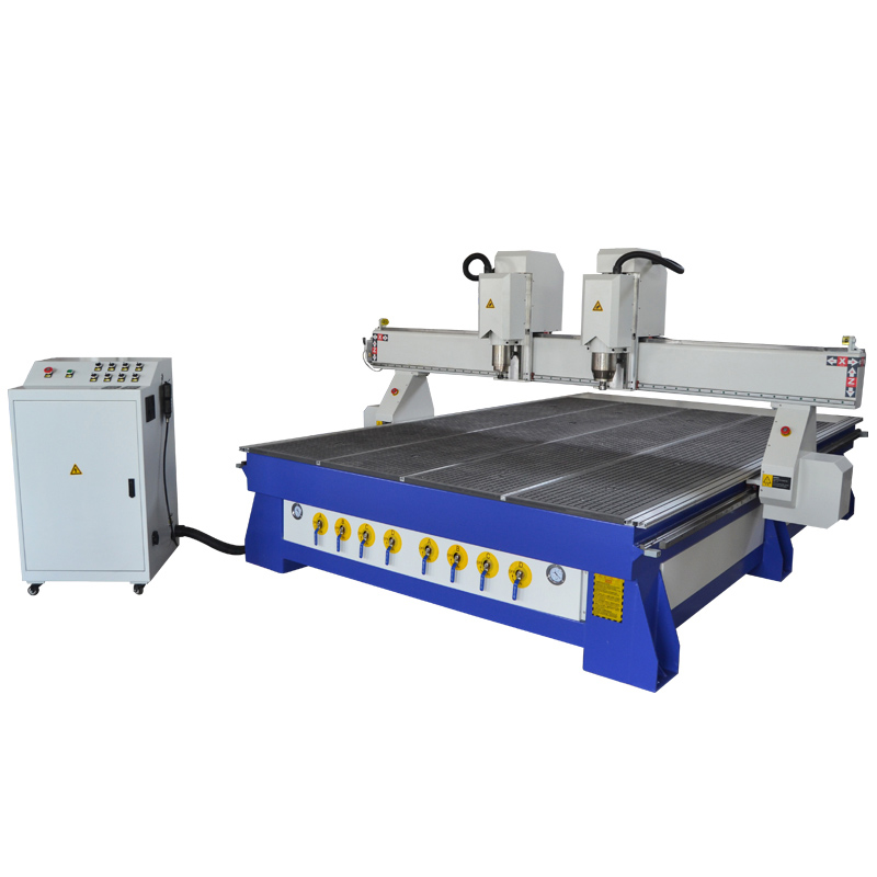 Double head CNC router machine 1325 with stronger machine bed