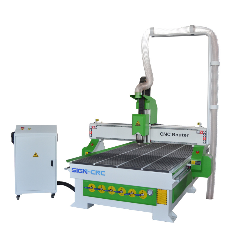 CNC router machine 1325 green and white