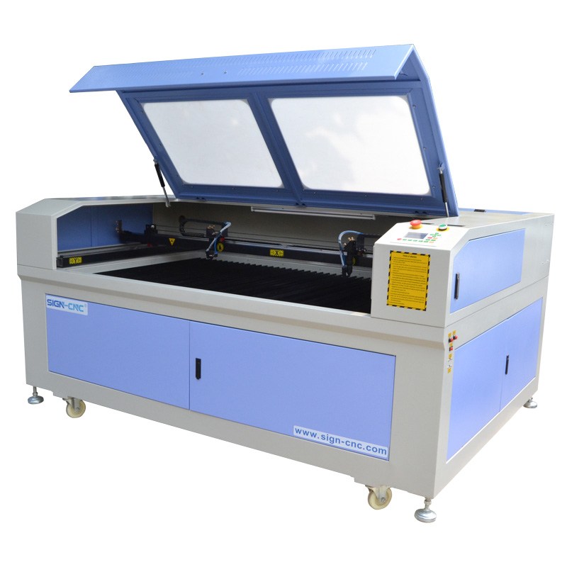CO2 laser engraving and cutting machine 1610 double heads