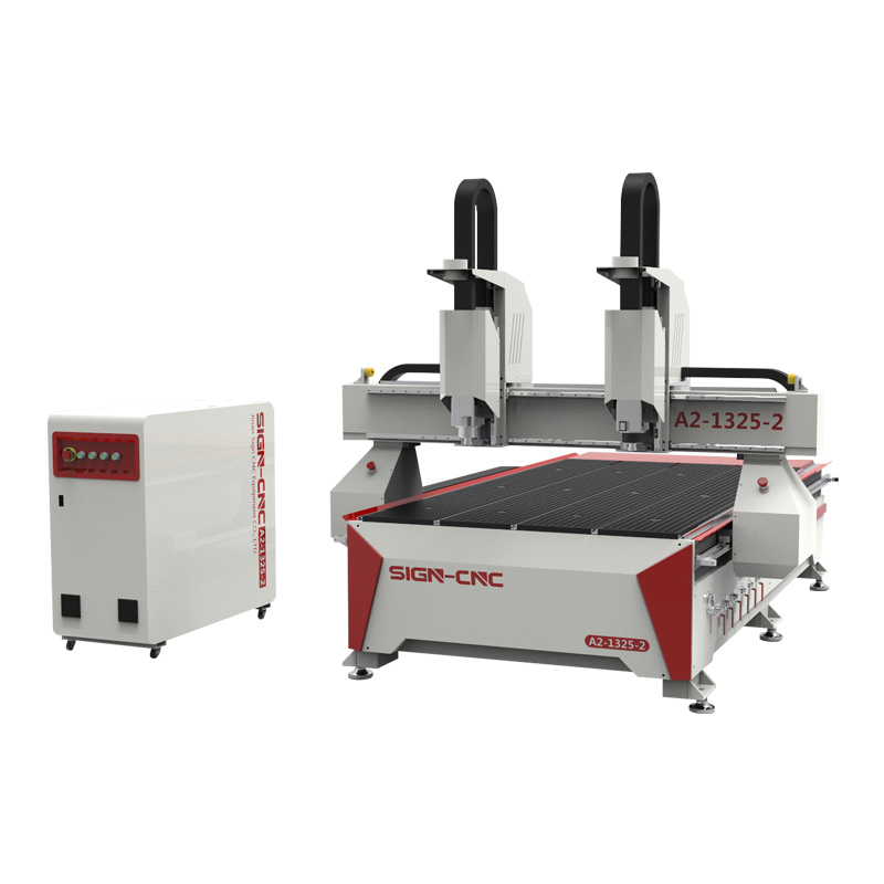 2020 New Double head CNC router machine 1325A