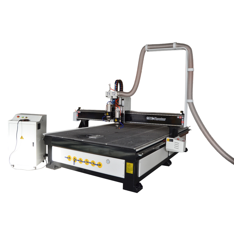 Pneumatic double water cooling spindle CNC router 2030