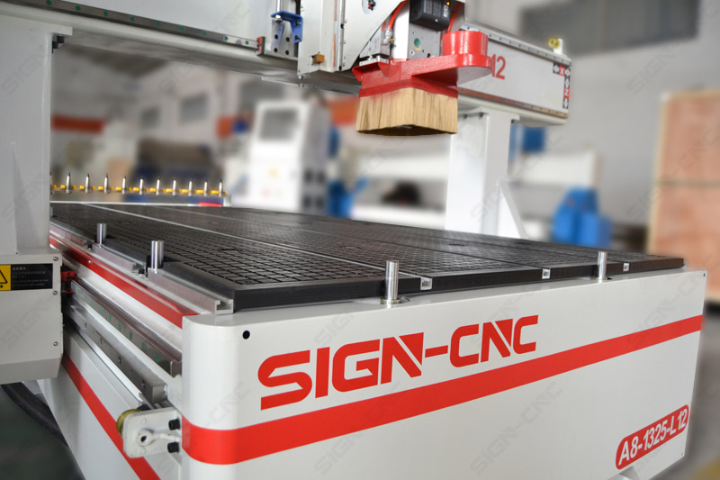 ACE-1325 ATC CNC Router Machine 4Axis Swing head for 3D Model