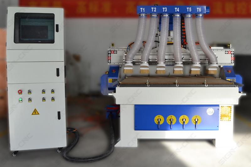 ACE-1315 Фрезерный станок с 6 головами с вакуумном столом