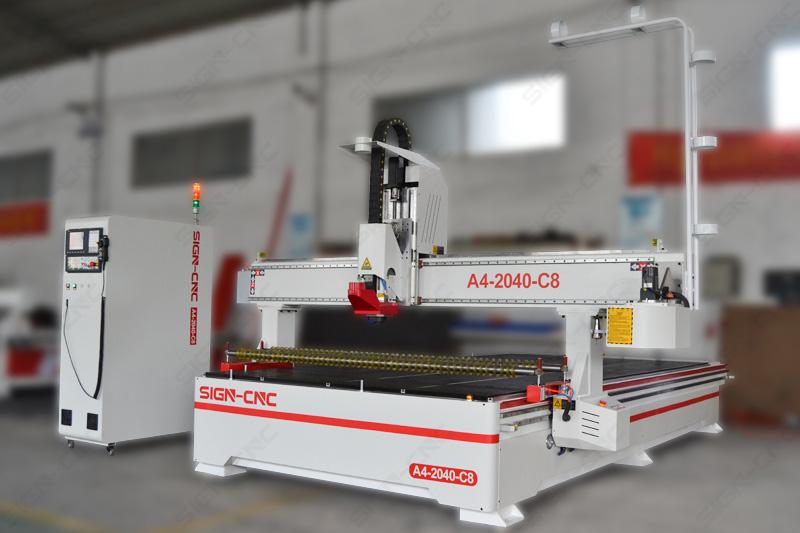 ACE-2040 ATC фрезерный станок с ЧПУ по дереву с круглым магазином с прижимным колесом