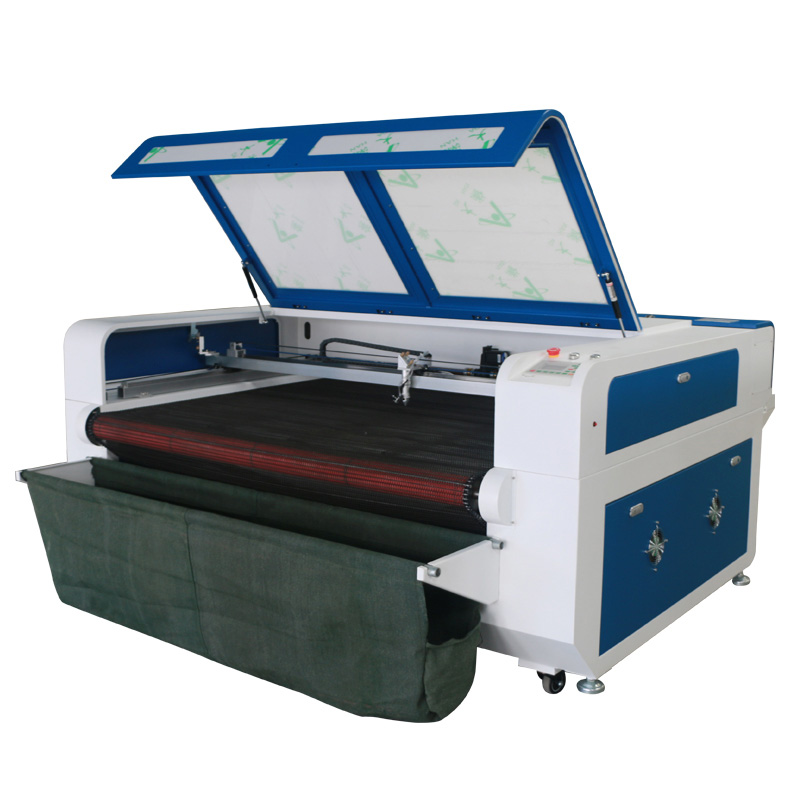 CO2 лазерный станок для резки ткани с подачей 1610