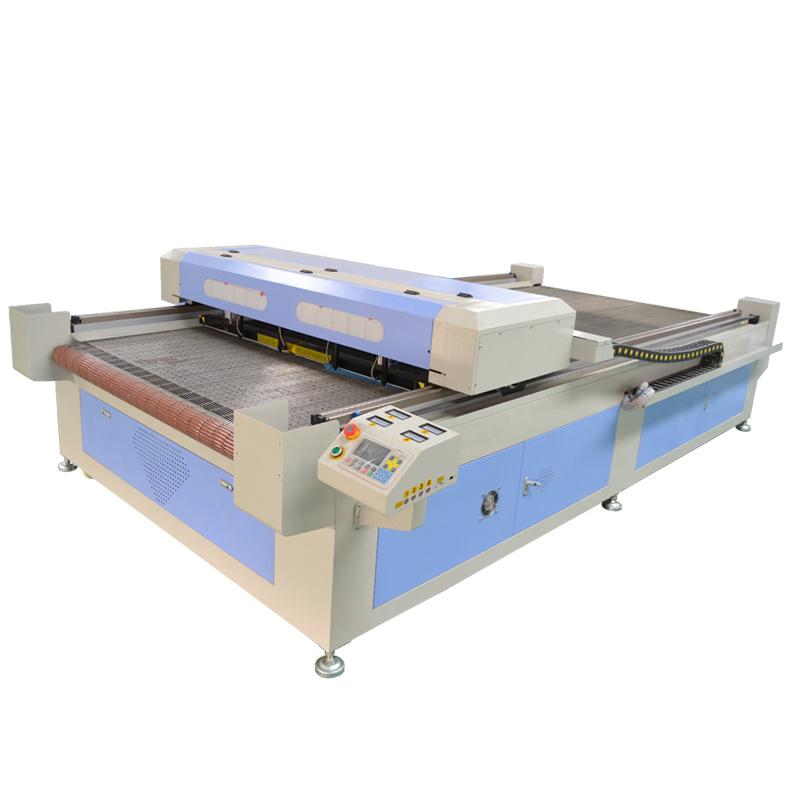 ACE 1830 CO2 лазерный станок для резки ткани с подачей с 4 головами