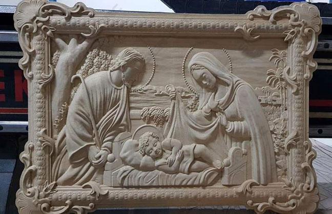 3D wood carving sample