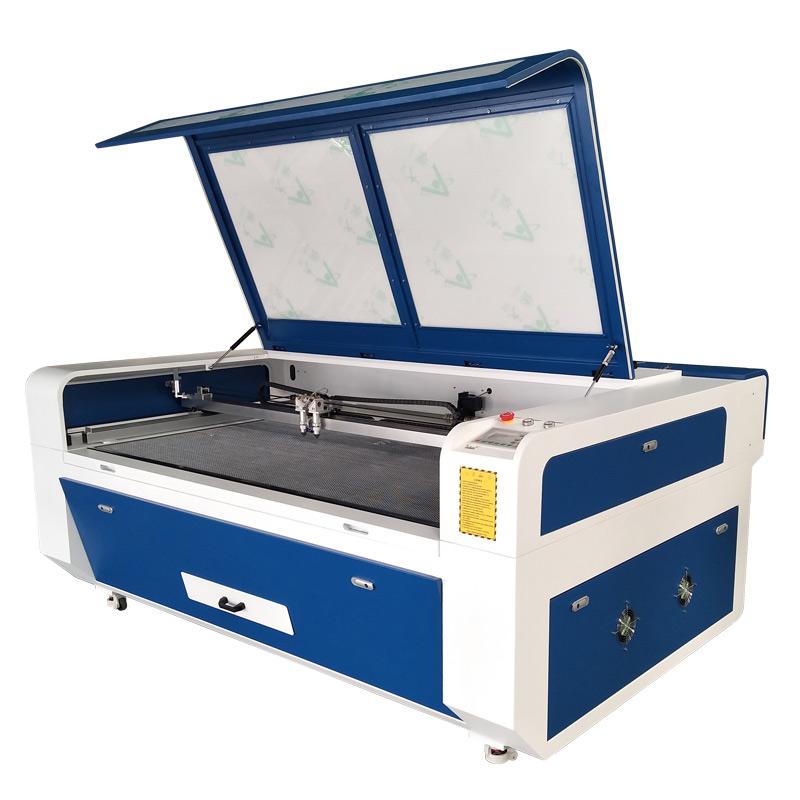 1610 CO2 лазерный станок для резки ткани с автоматической подачей с 2 головами
